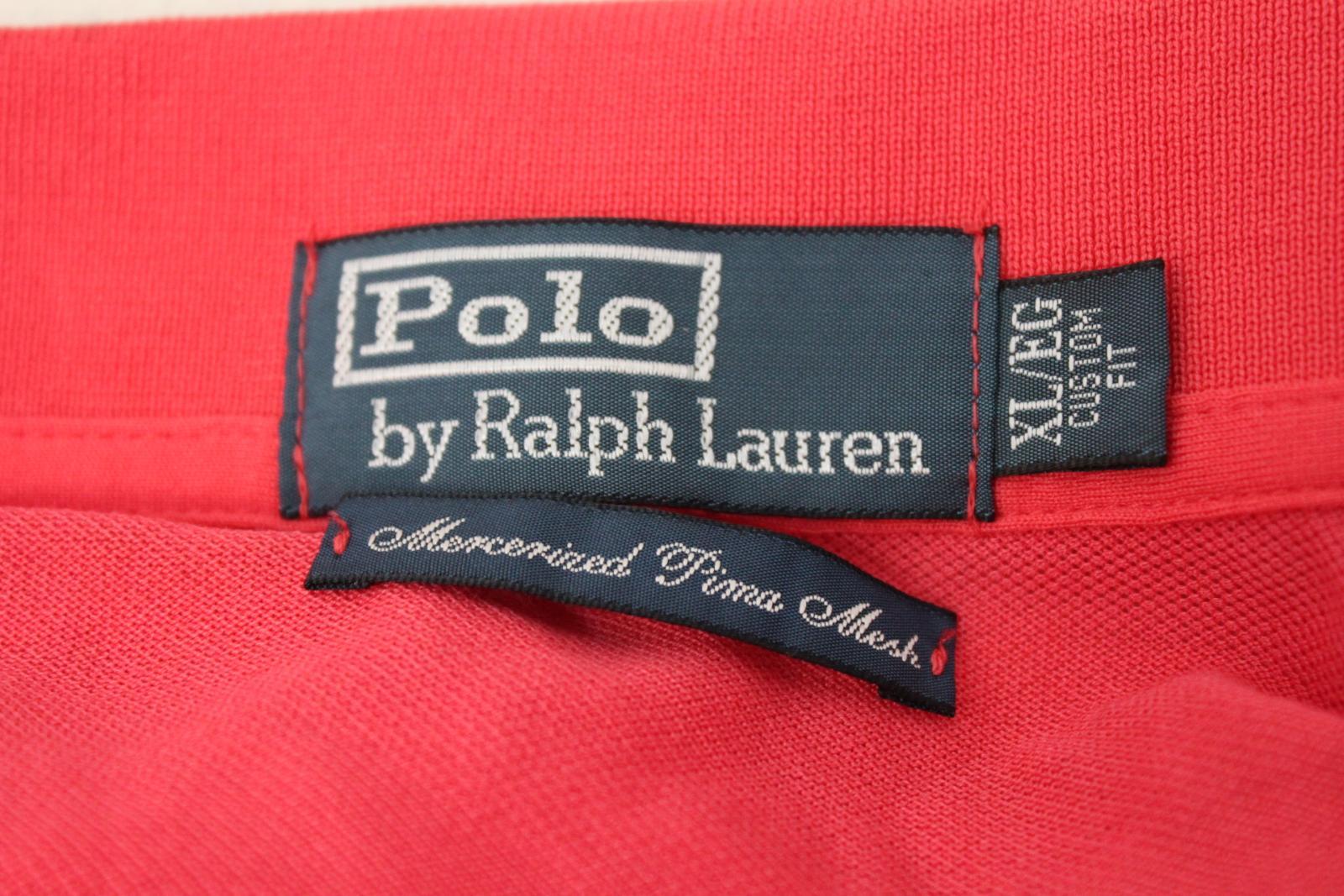 Ralph-Lauren-Polo-para-hombre-de-color-rosa-de-algodon-Manga-Corta-Camisa-Polo-De-Ajuste miniatura 6
