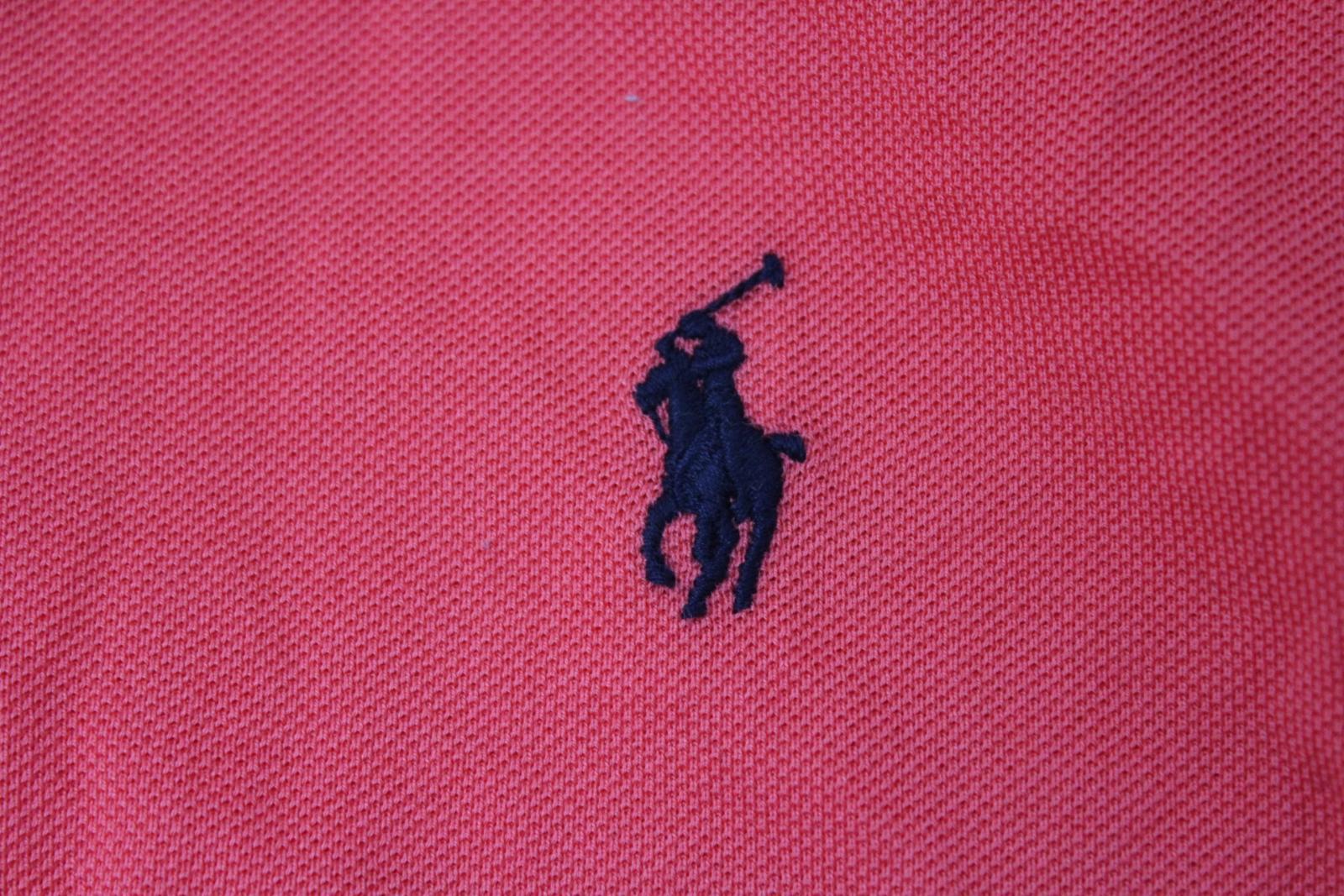 Ralph-Lauren-Polo-para-hombre-de-color-rosa-de-algodon-Manga-Corta-Camisa-Polo-De-Ajuste miniatura 7
