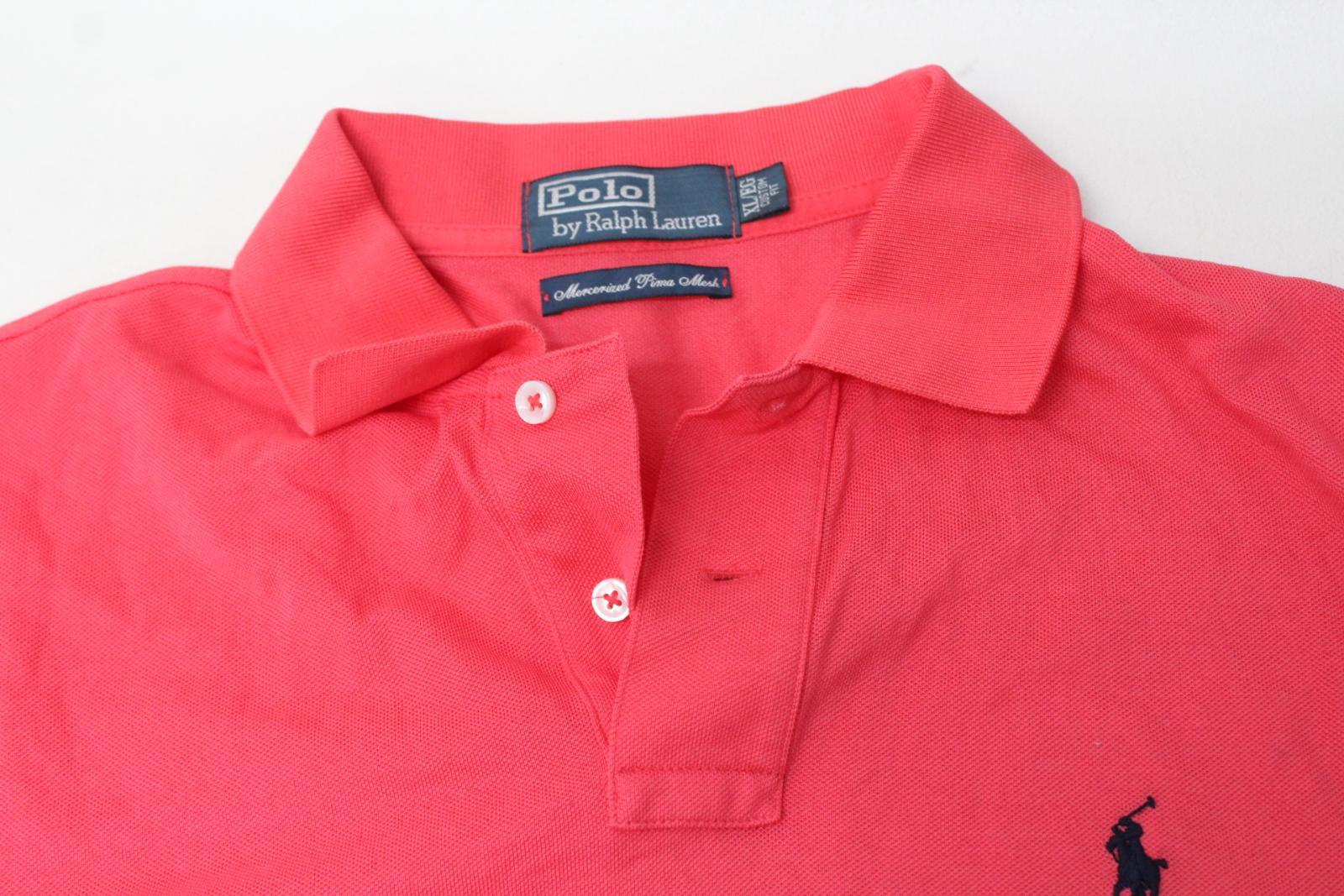 Ralph-Lauren-Polo-para-hombre-de-color-rosa-de-algodon-Manga-Corta-Camisa-Polo-De-Ajuste miniatura 9