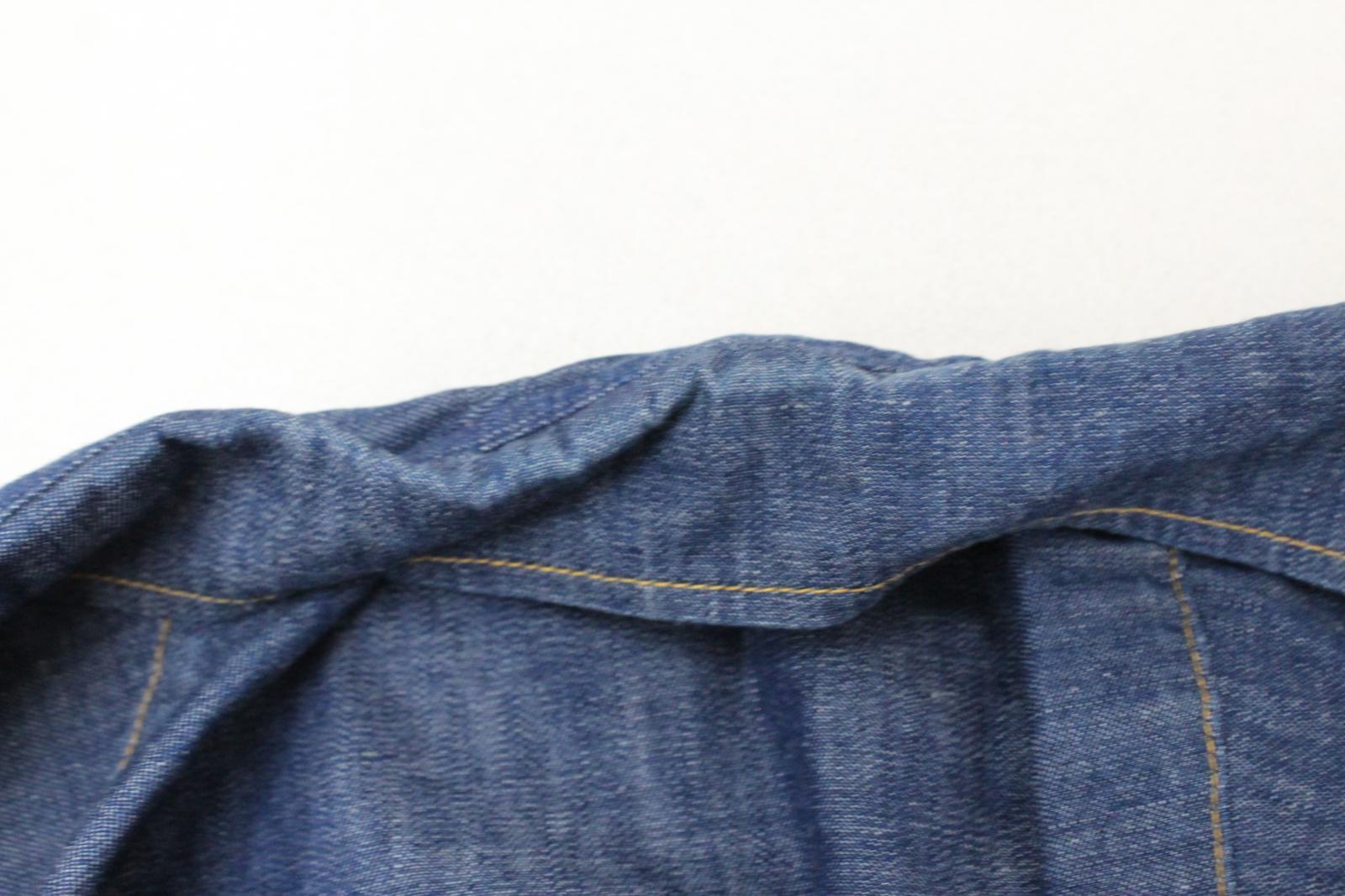 Lee-Jeans-de-hombre-Vintage-Denim-Azul-Algodon-con-Corchetes-Cierre-Mangas-Largas-Camisa-S miniatura 10