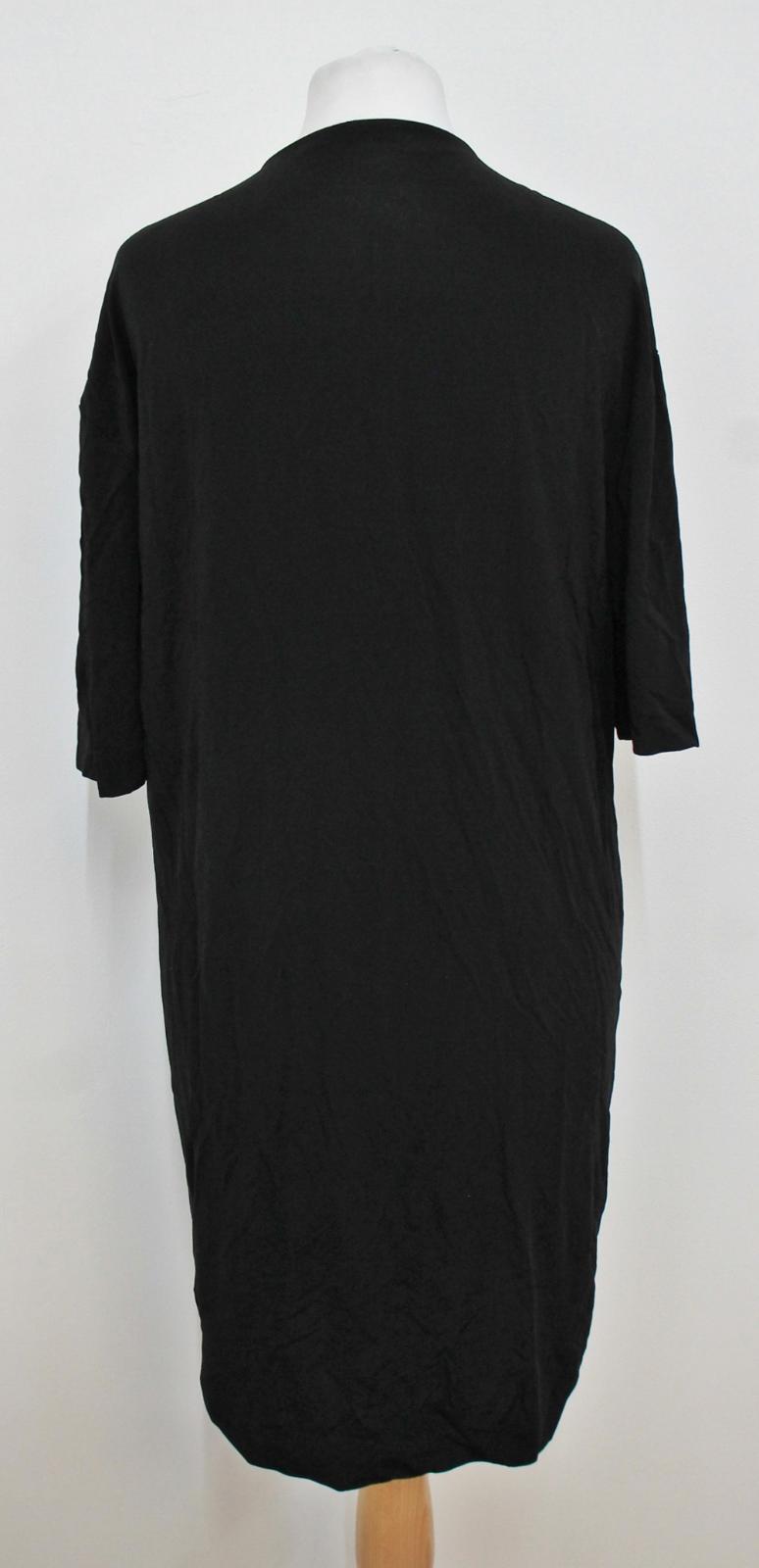 COS-Senoras-Negras-de-manga-corta-escote-V-con-cremallera-frontal-Cambio-Vestido-Talla-XS miniatura 4