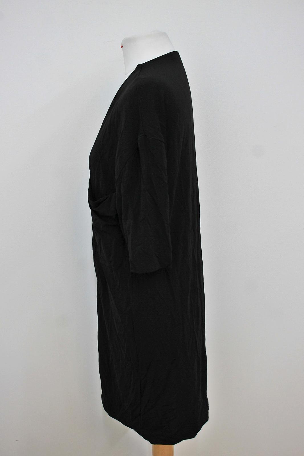 COS-Senoras-Negras-de-manga-corta-escote-V-con-cremallera-frontal-Cambio-Vestido-Talla-XS miniatura 5