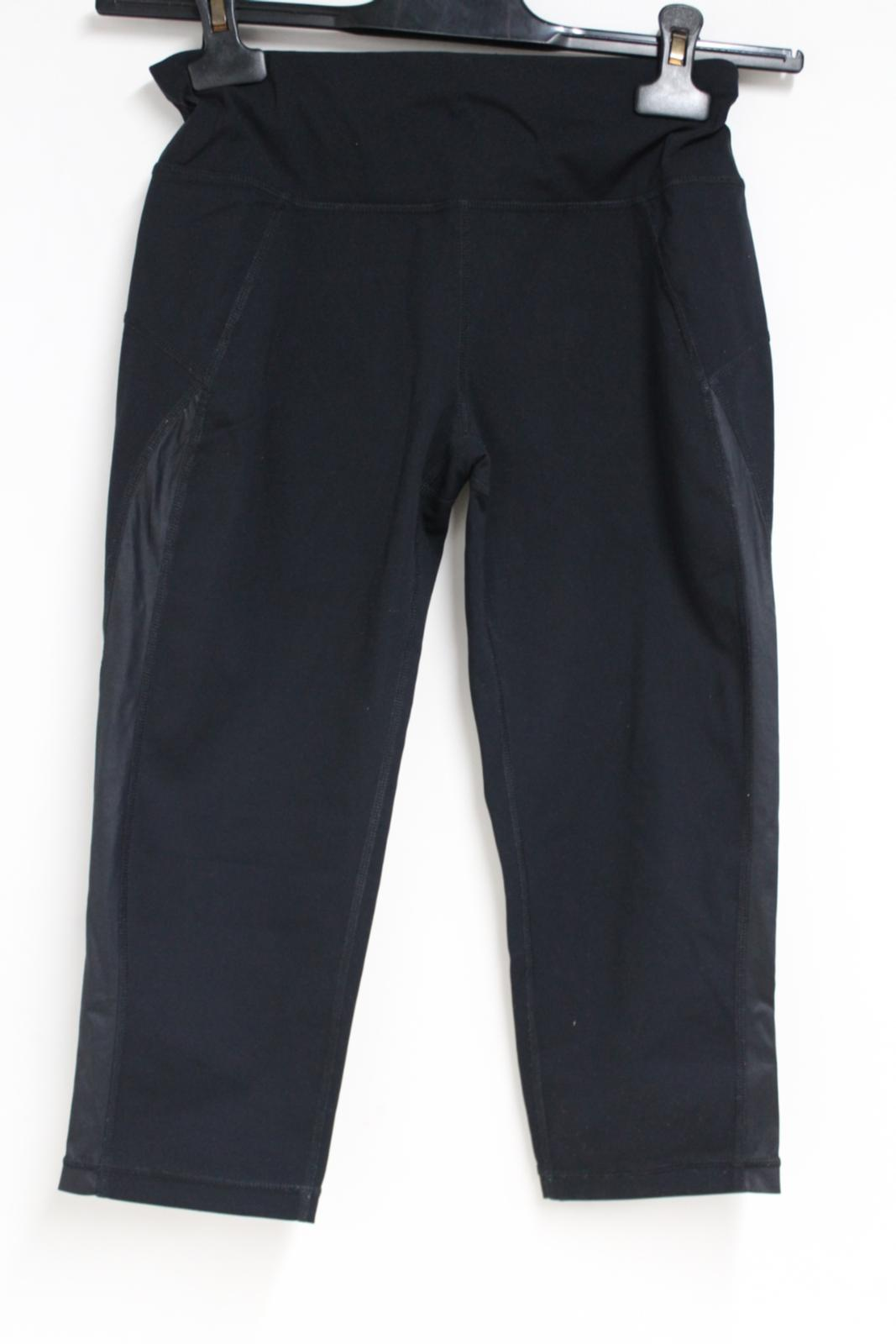 Sweaty-Betty-Ladies-Negro-3-4-piernas-Corto-Leggings-Activewear-pequeno-W26-L16 miniatura 2