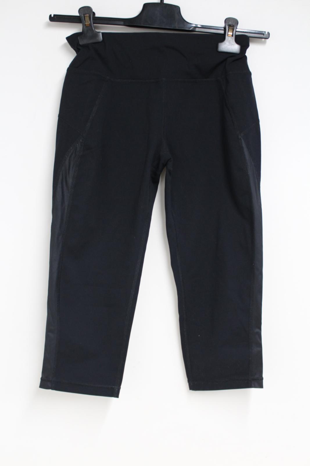 Sweaty-Betty-Ladies-Negro-3-4-piernas-Corto-Leggings-Activewear-pequeno-W26-L16 miniatura 3