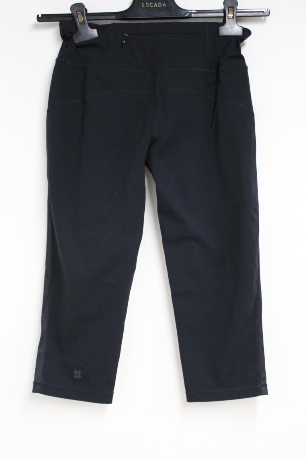 Sweaty-Betty-Ladies-Negro-3-4-piernas-Corto-Leggings-Activewear-pequeno-W26-L16 miniatura 6