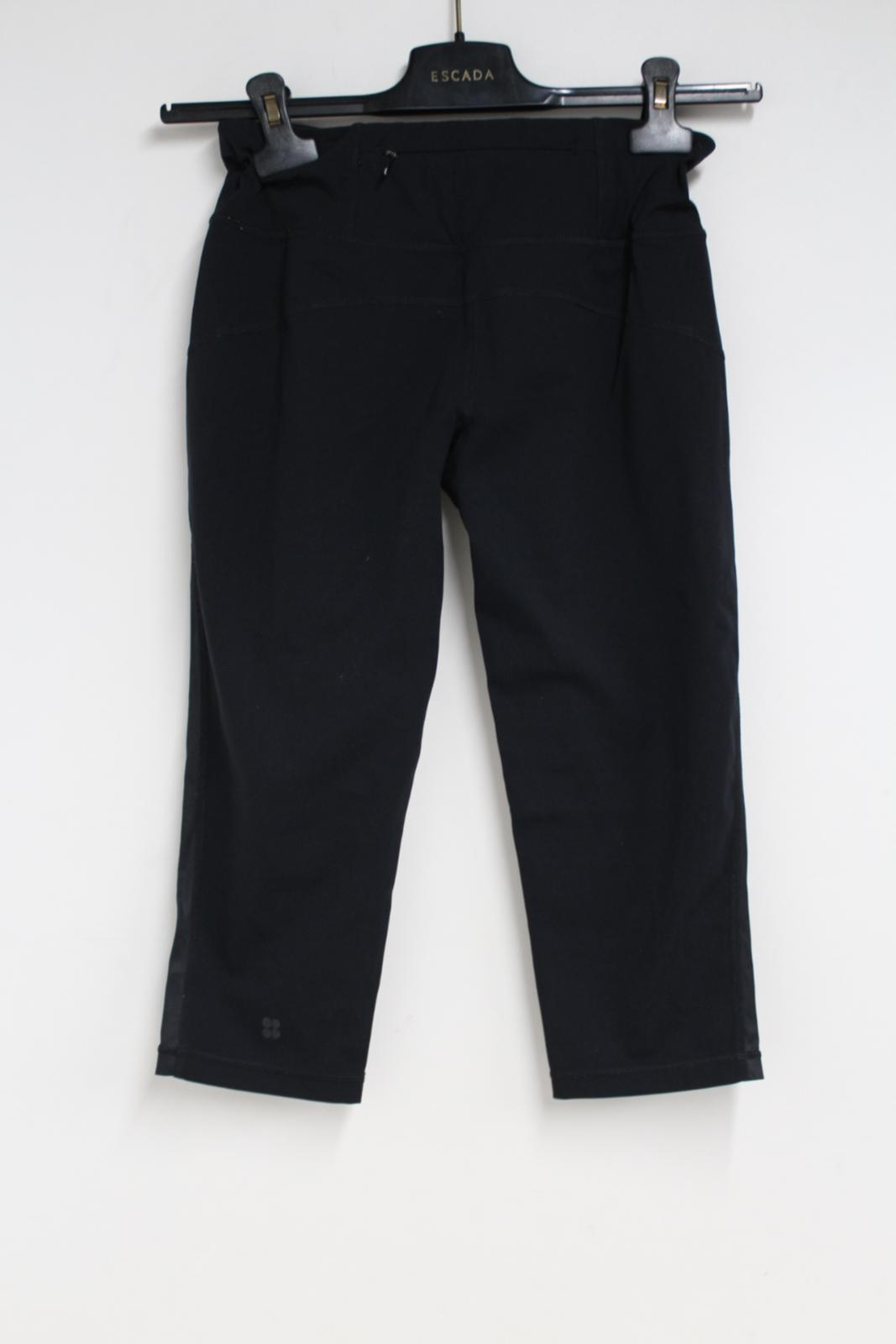 Sweaty-Betty-Ladies-Negro-3-4-piernas-Corto-Leggings-Activewear-pequeno-W26-L16 miniatura 7