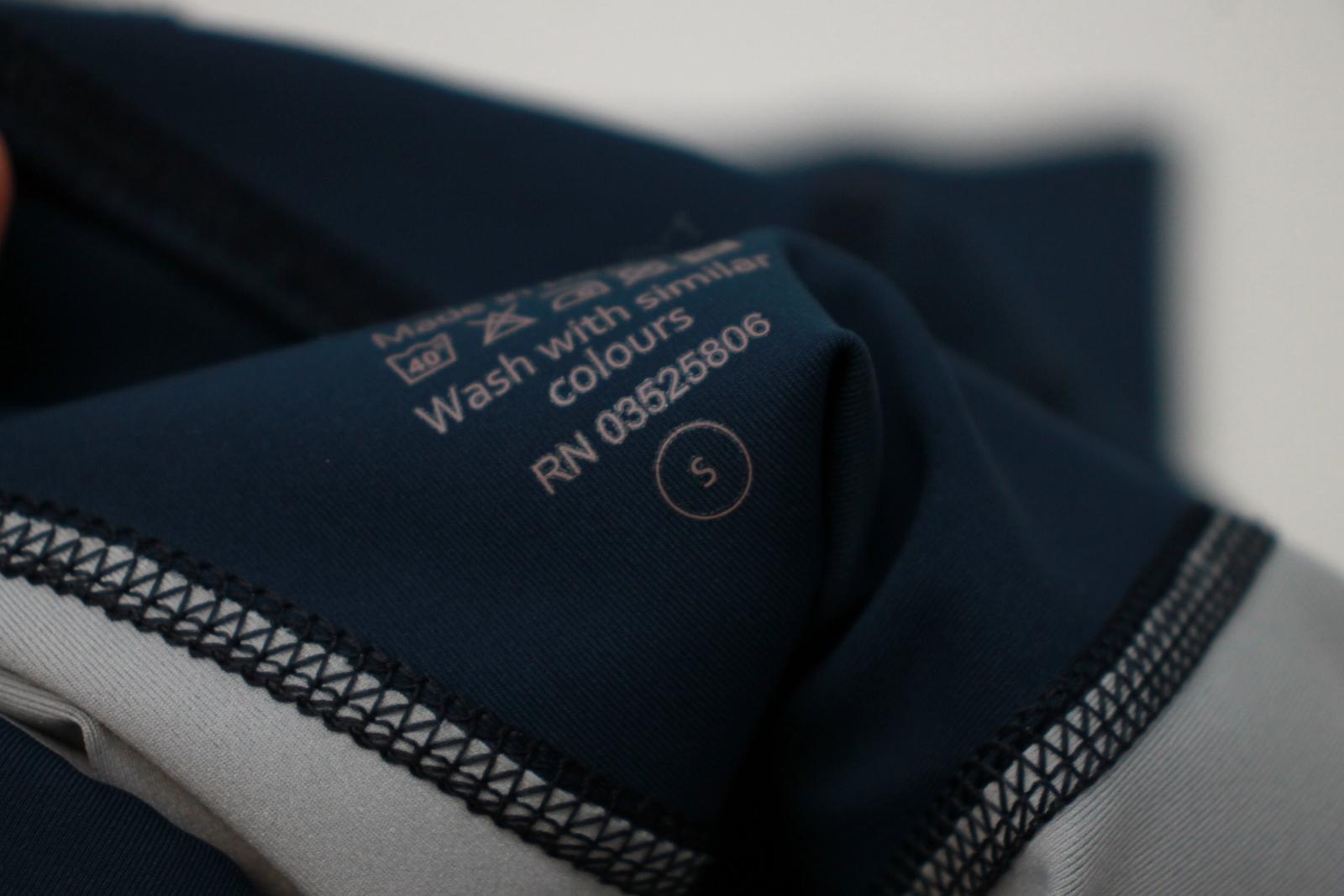 Sweaty-Betty-Damas-Azul-Oscuro-Impreso-Negro-Recortada-Leggings-Talla-S-W26-L18 miniatura 8