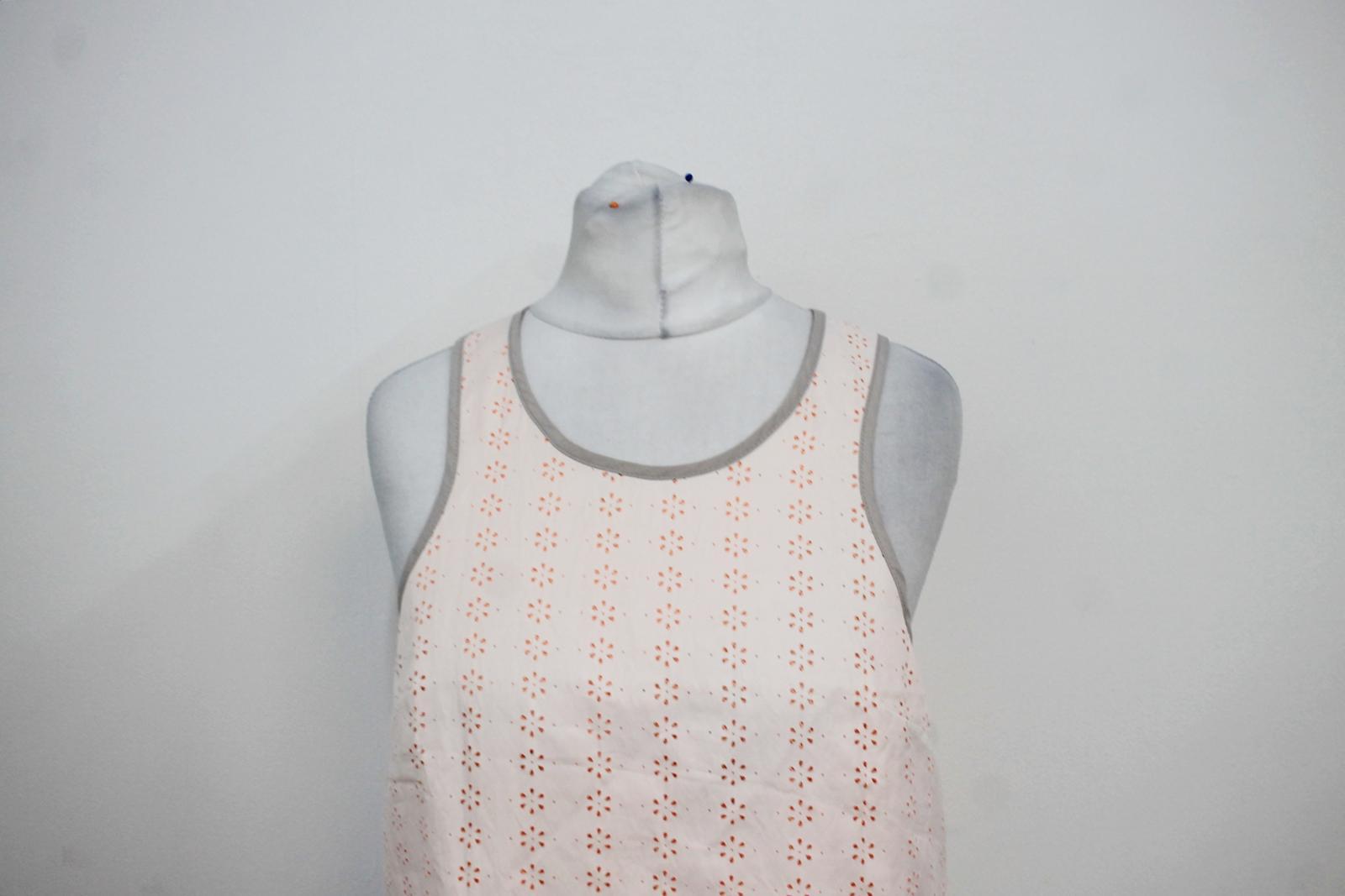 Sweaty-Betty-senoras-capas-de-malla-naranja-Marfil-Sin-Mangas-Chaleco-Top-Talla-XS miniatura 6