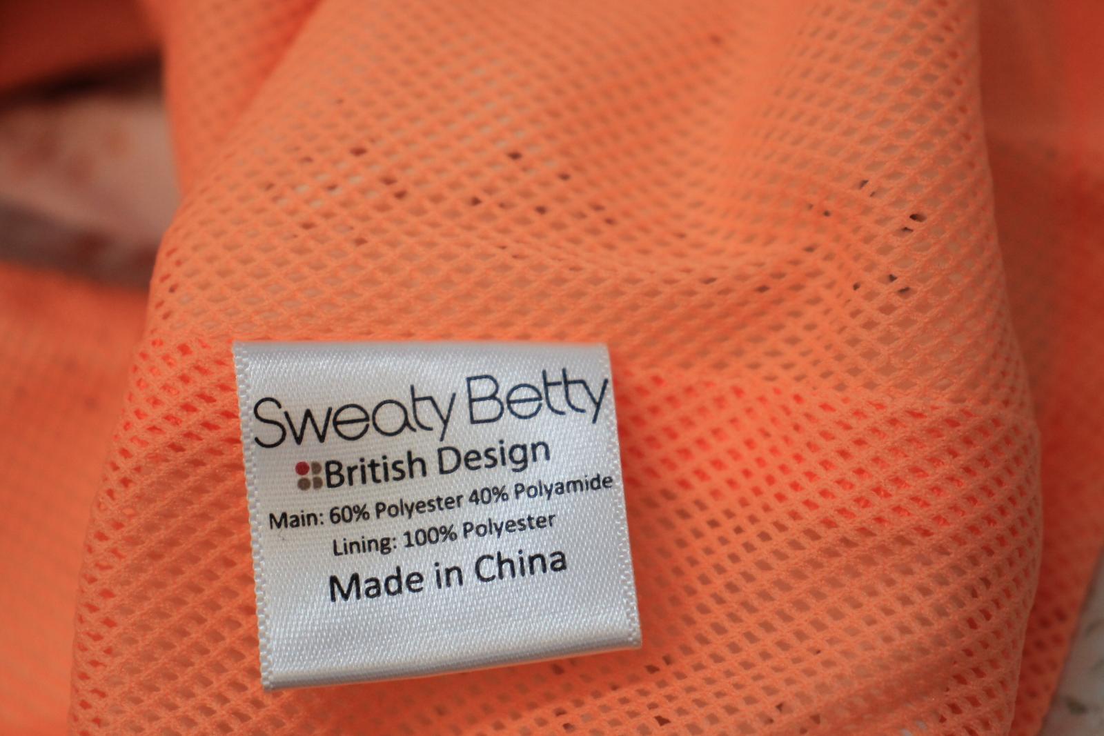 Sweaty-Betty-senoras-capas-de-malla-naranja-Marfil-Sin-Mangas-Chaleco-Top-Talla-XS miniatura 10