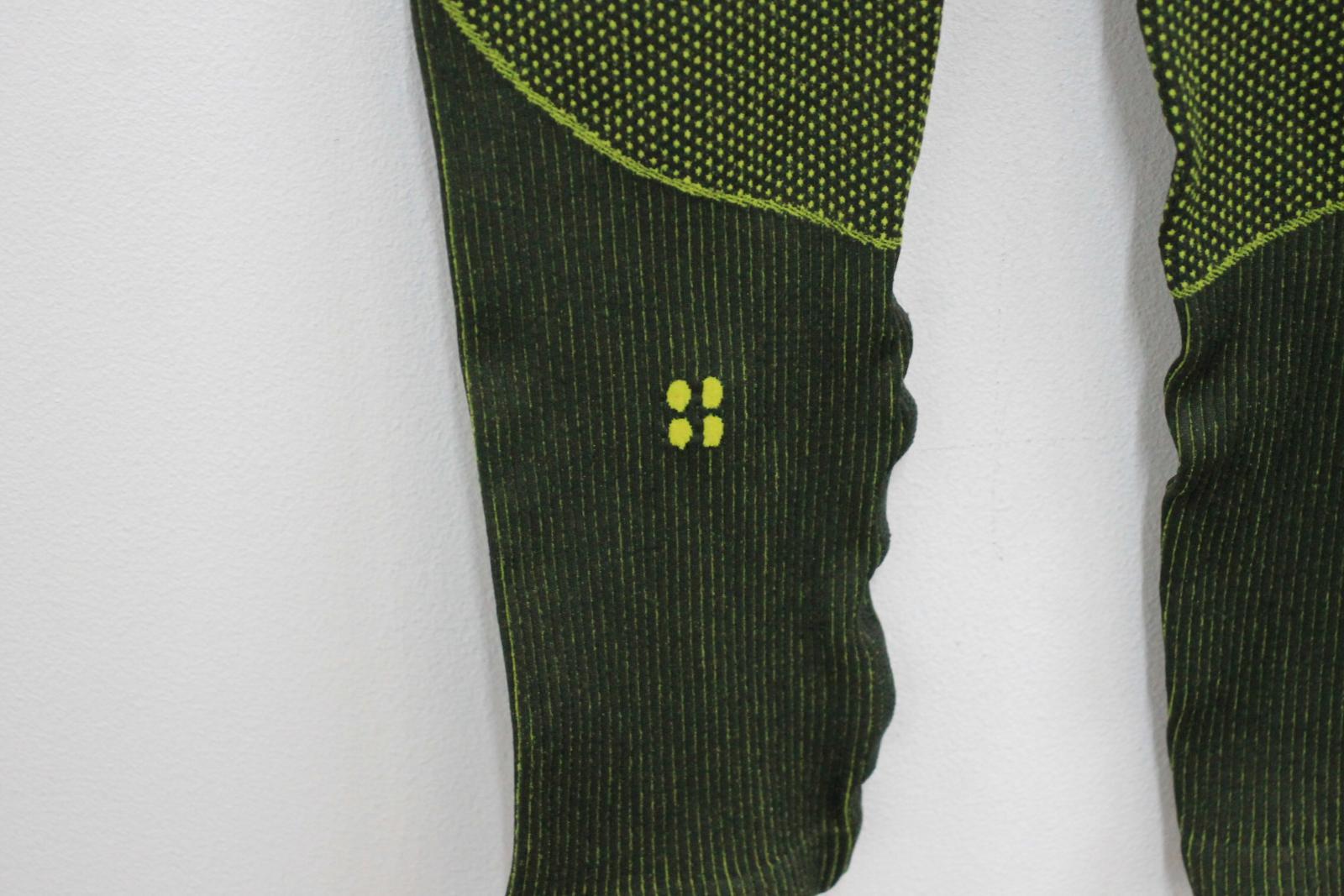 Sweaty-Betty-senoras-Neon-Verde-Amarillo-Elastico-Cintura-Alta-Leggings-S-W24-L24 miniatura 4