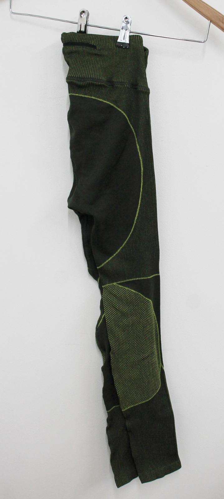 Sweaty-Betty-senoras-Neon-Verde-Amarillo-Elastico-Cintura-Alta-Leggings-S-W24-L24 miniatura 6