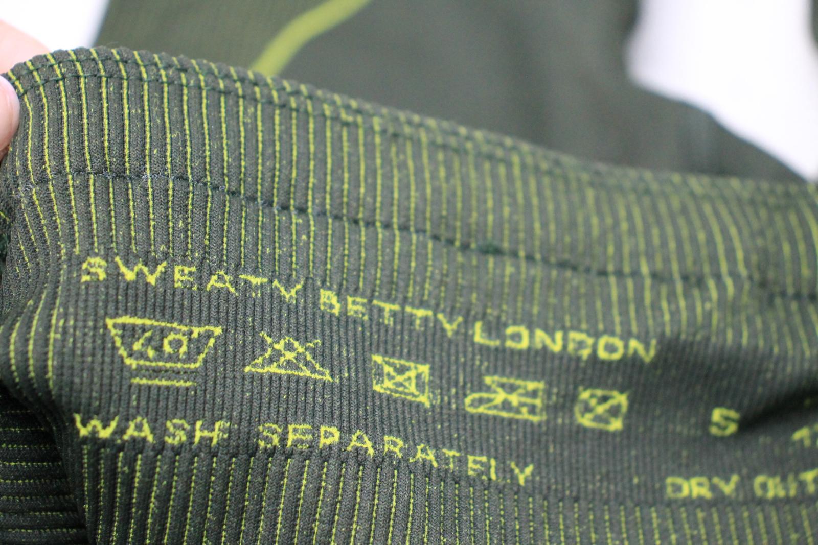 Sweaty-Betty-senoras-Neon-Verde-Amarillo-Elastico-Cintura-Alta-Leggings-S-W24-L24 miniatura 7