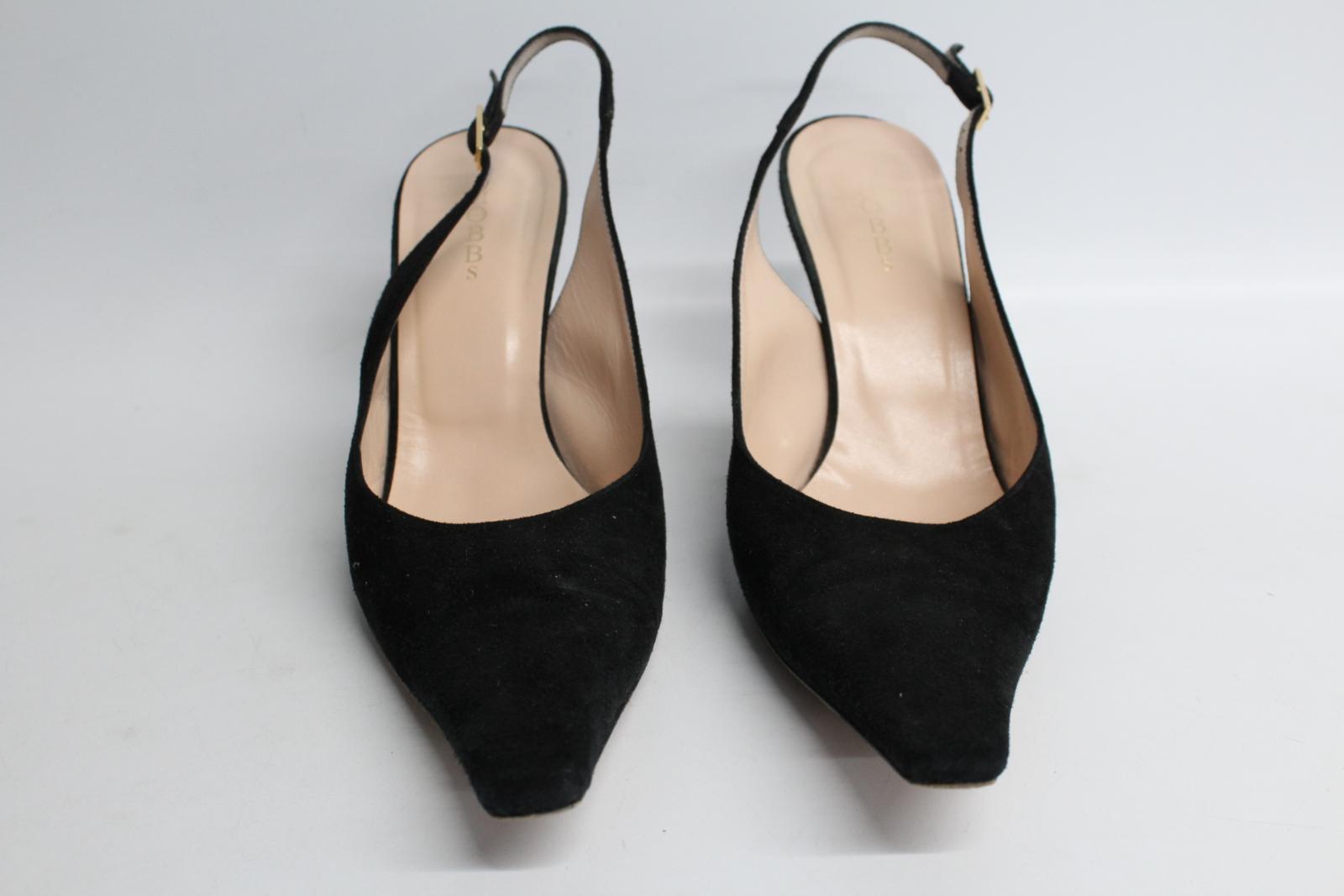 Hobbs-femmes-en-daim-noir-Sling-Arriere-bout-pointu-et-talon-aiguille-Chaussure-UK6-5-EU39-5 miniature 5