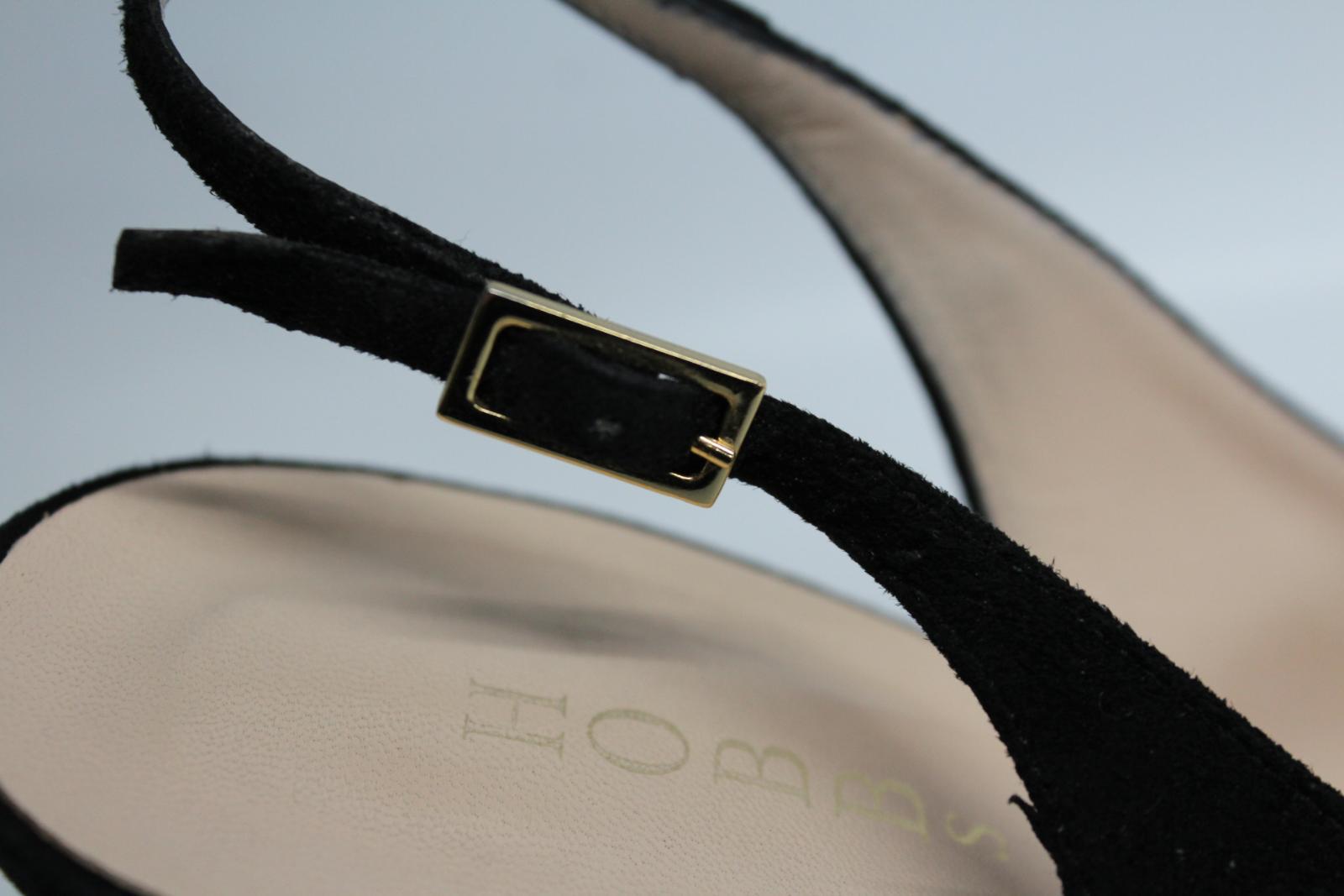 Hobbs-femmes-en-daim-noir-Sling-Arriere-bout-pointu-et-talon-aiguille-Chaussure-UK6-5-EU39-5 miniature 11