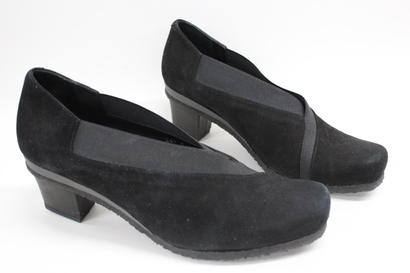 AUDLEY-London-Ladies-Black-Suede-Crossover-Block-Heels-Shoes-Size-EU39-UK6 thumbnail 2
