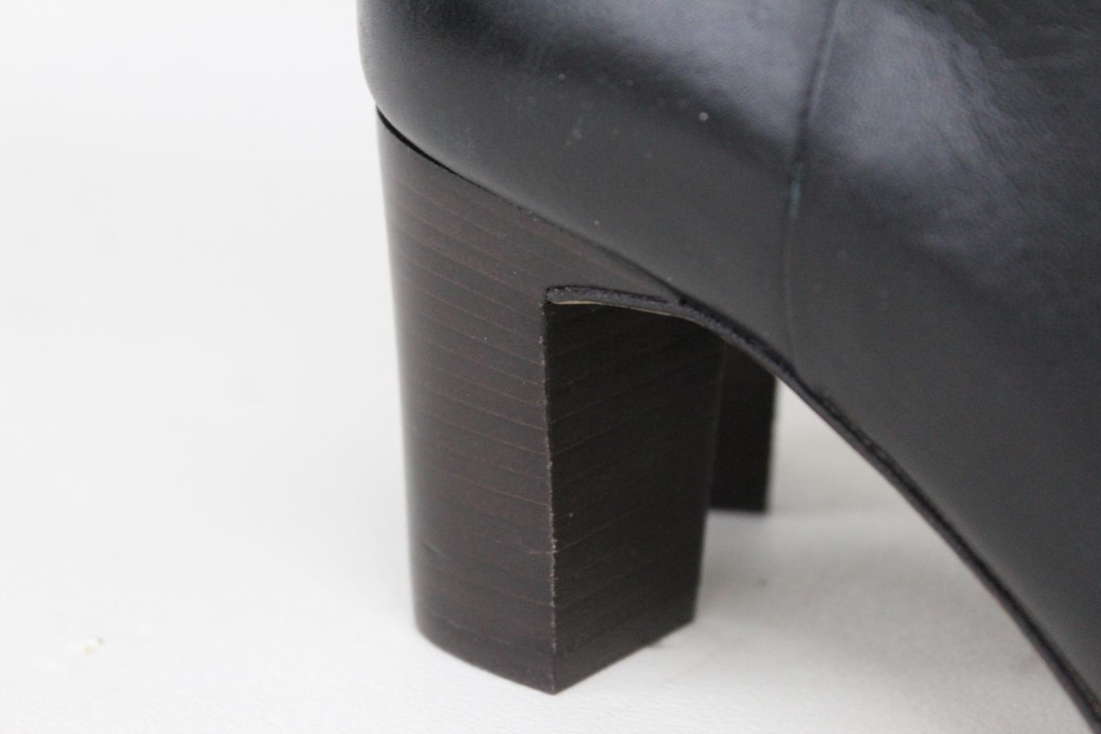 Hobbs-Senoras-Rodilla-Tacon-Maya-Cuero-Negro-Botas-De-Montar-UK8-EU41-Nuevo miniatura 5
