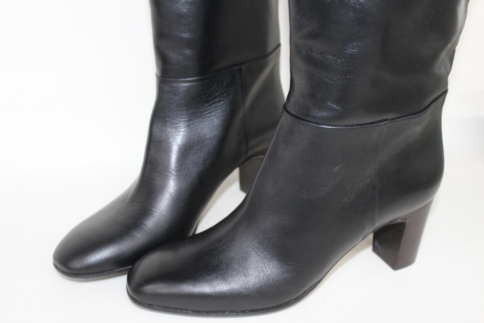 Hobbs-Senoras-Rodilla-Tacon-Maya-Cuero-Negro-Botas-De-Montar-UK8-EU41-Nuevo miniatura 10