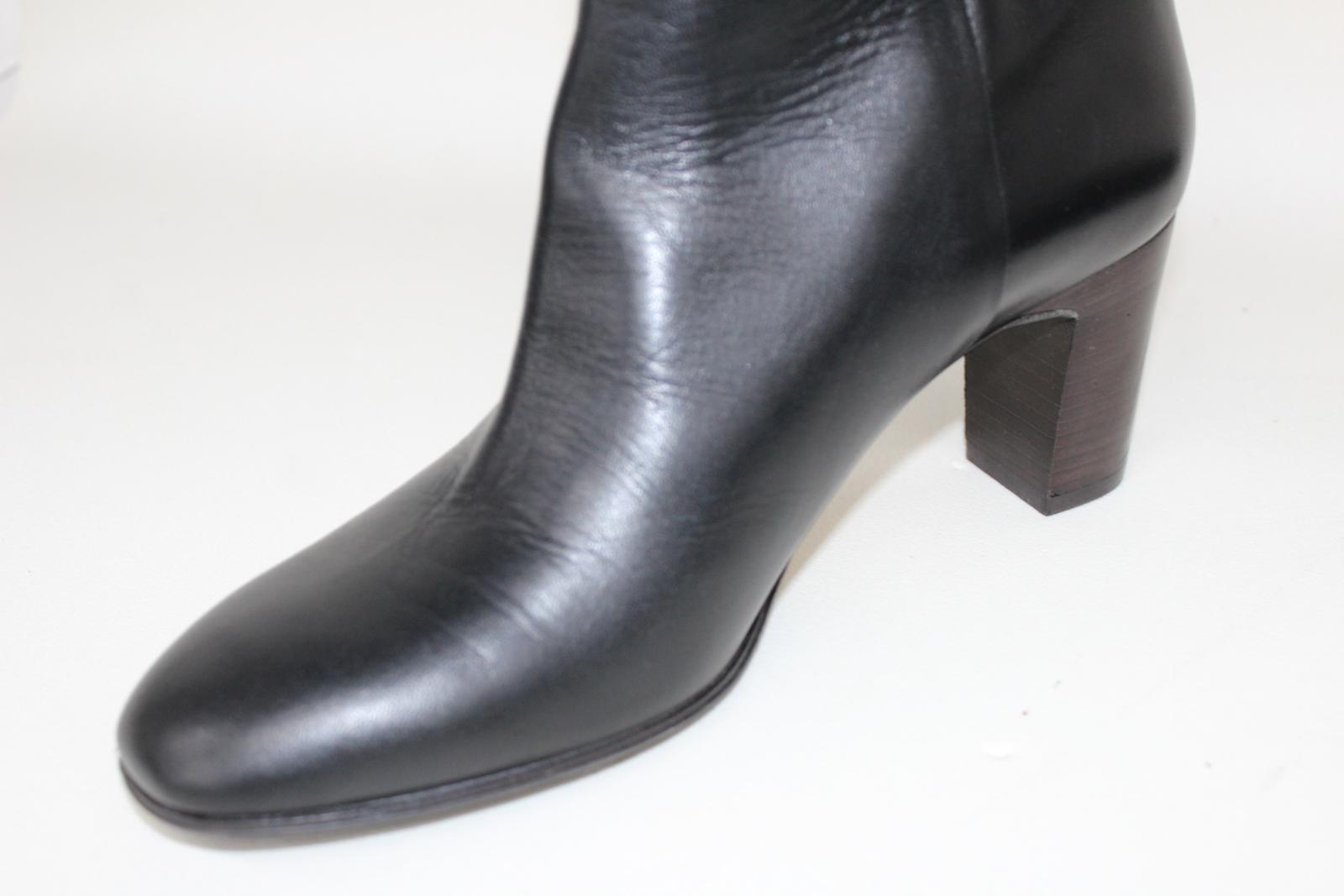 Hobbs-Senoras-Rodilla-Tacon-Maya-Cuero-Negro-Botas-De-Montar-UK8-EU41-Nuevo miniatura 11