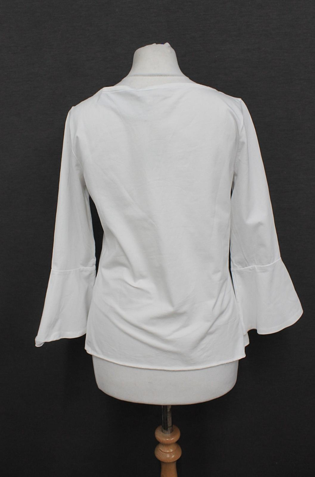 HOBBS Ladies Mara Ivory Cotton Blend 3//4 Bell Sleeve Boat Neck Top Size XL NEW