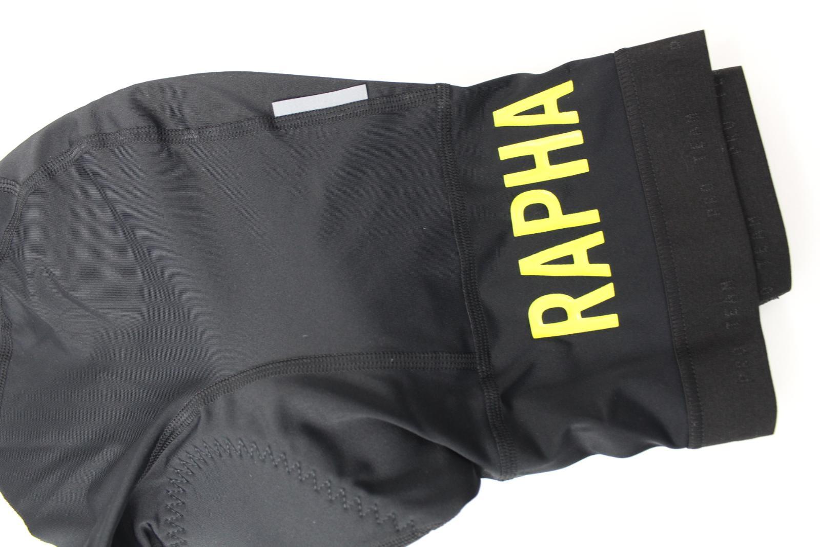 RAPHA PSH02XXBYLXSM Pro Team bavoirs Lycra Cyclisme Short XS Noir//SULPHUR Bnwt