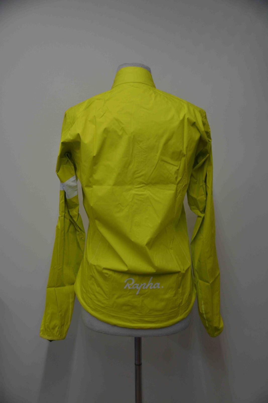 RAPHA Femme Jaune Fermeture Zippée Devant Ventilé Cyclisme Core Veste Imperméable II S nouveau