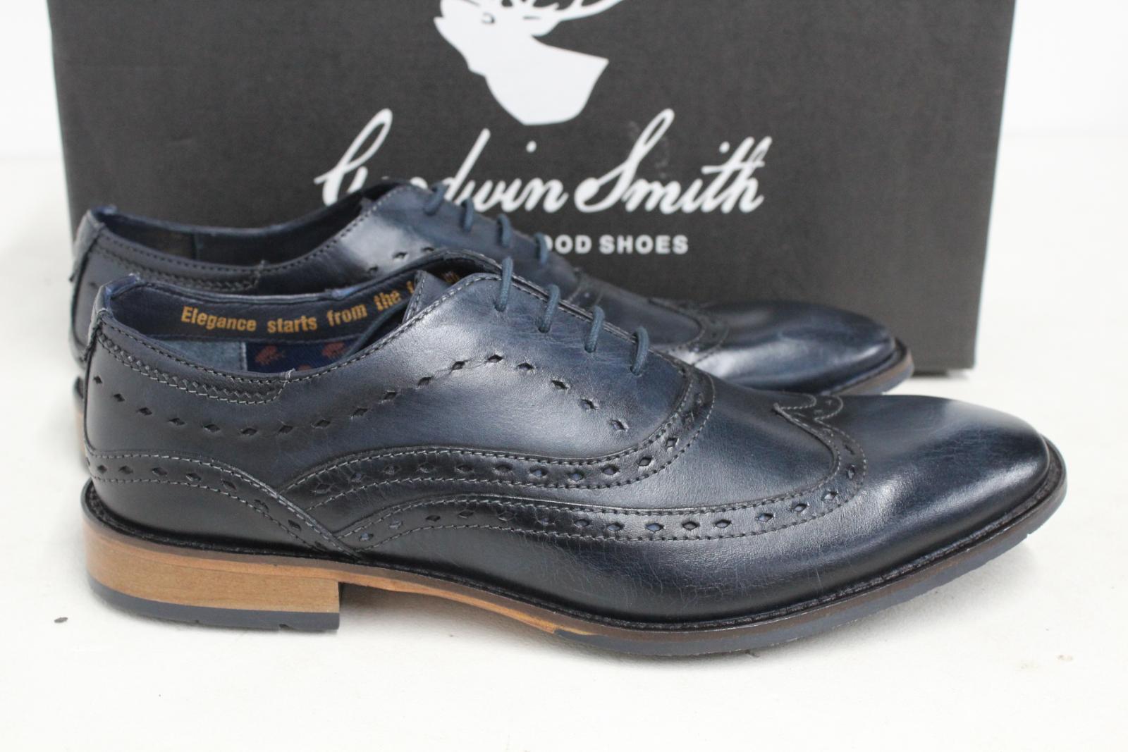 GOODWIN-para-hombre-Azul-Marino-Bowland-SMITH-Cuero-Oxford-Zapatos-UK-7-EU41-Nuevo miniatura 3