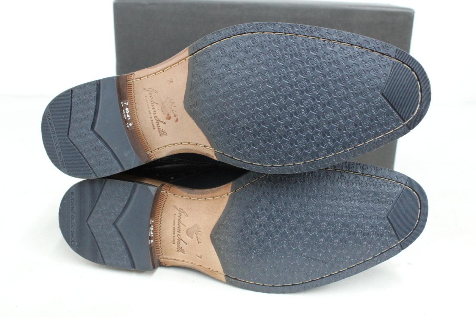 GOODWIN-para-hombre-Azul-Marino-Bowland-SMITH-Cuero-Oxford-Zapatos-UK-7-EU41-Nuevo miniatura 5