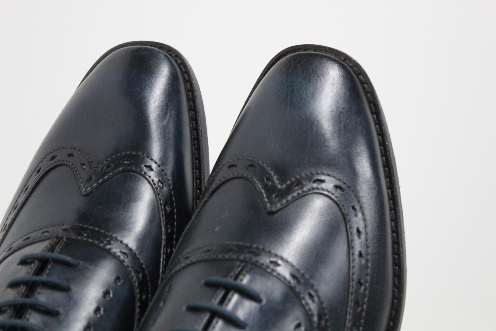 GOODWIN-para-hombre-Azul-Marino-Bowland-SMITH-Cuero-Oxford-Zapatos-UK-7-EU41-Nuevo miniatura 6