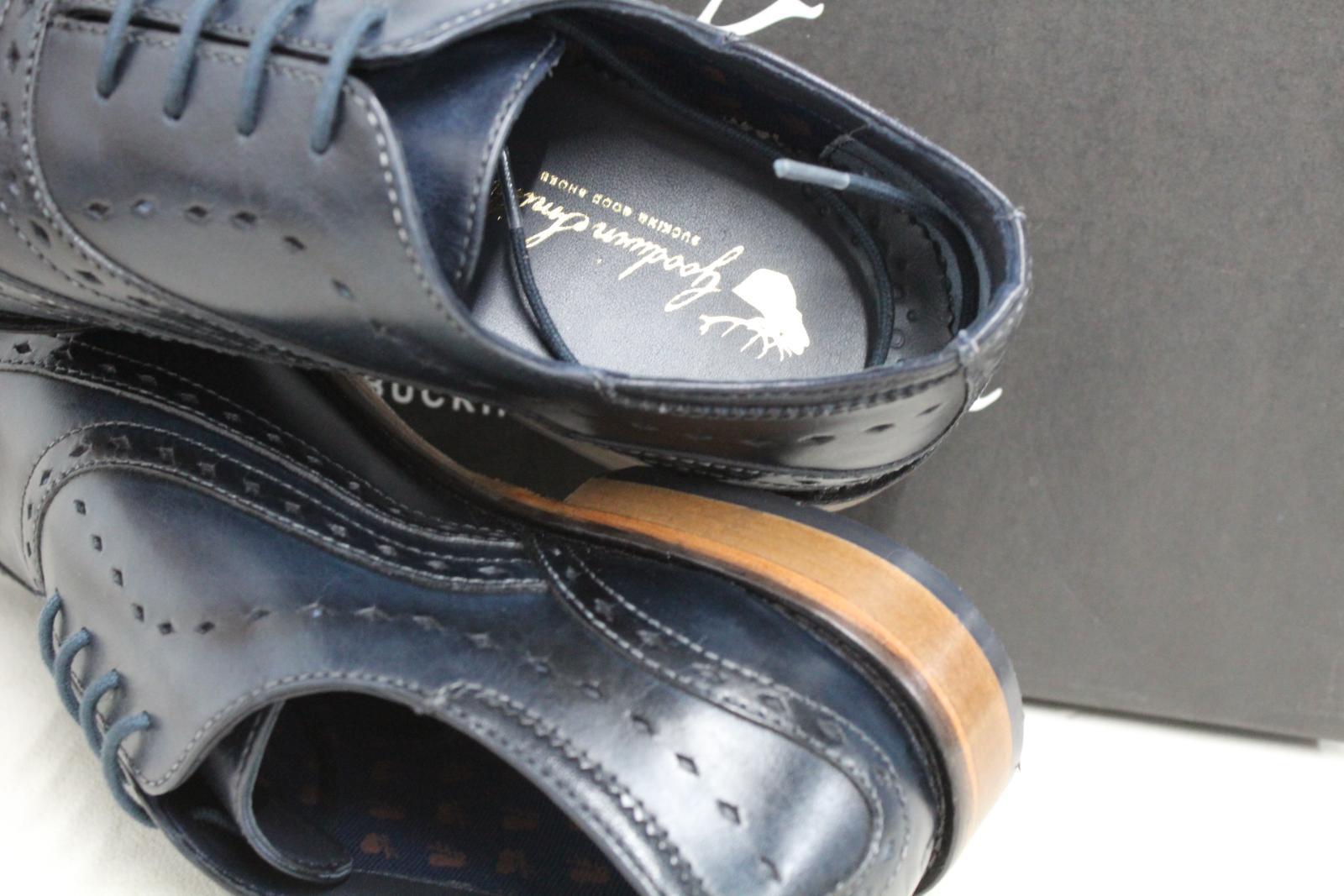 GOODWIN-para-hombre-Azul-Marino-Bowland-SMITH-Cuero-Oxford-Zapatos-UK-7-EU41-Nuevo miniatura 8