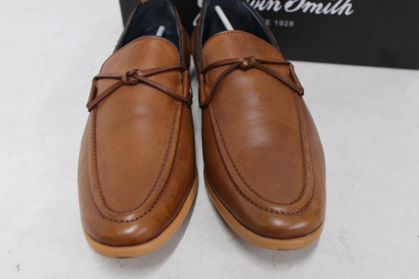 Goodwin-Smith-Para-Hombre-Napoli-Tanga-Zapato-Marron-Sin-Cordones-Mocasin-Cuero-UK8-EU42-Nuevo miniatura 8