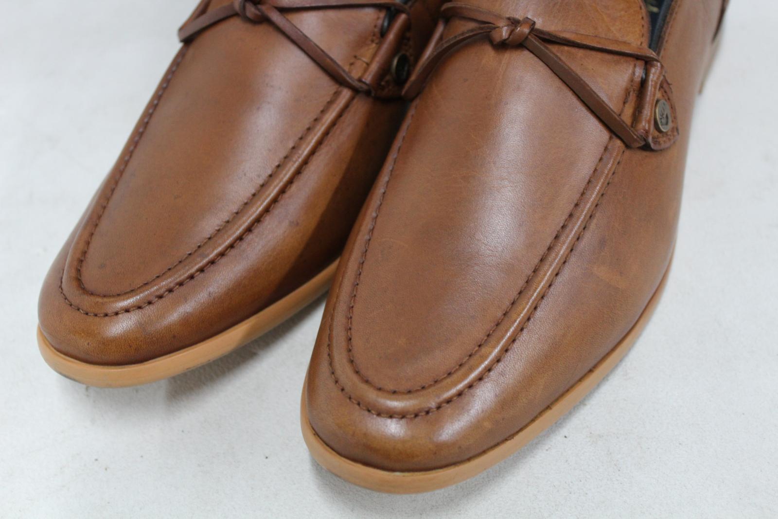 Goodwin-Smith-Para-Hombre-Napoli-Tanga-Zapato-Marron-Sin-Cordones-Mocasin-Cuero-UK8-EU42-Nuevo miniatura 10