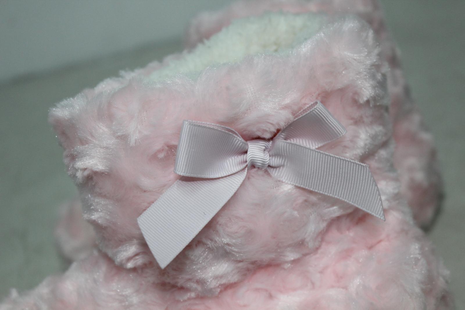 CHIC PRINCESS Girls Pink Fluffy Winter Warm Slipper Shoe Boots UK5 EU38 BNWT 6