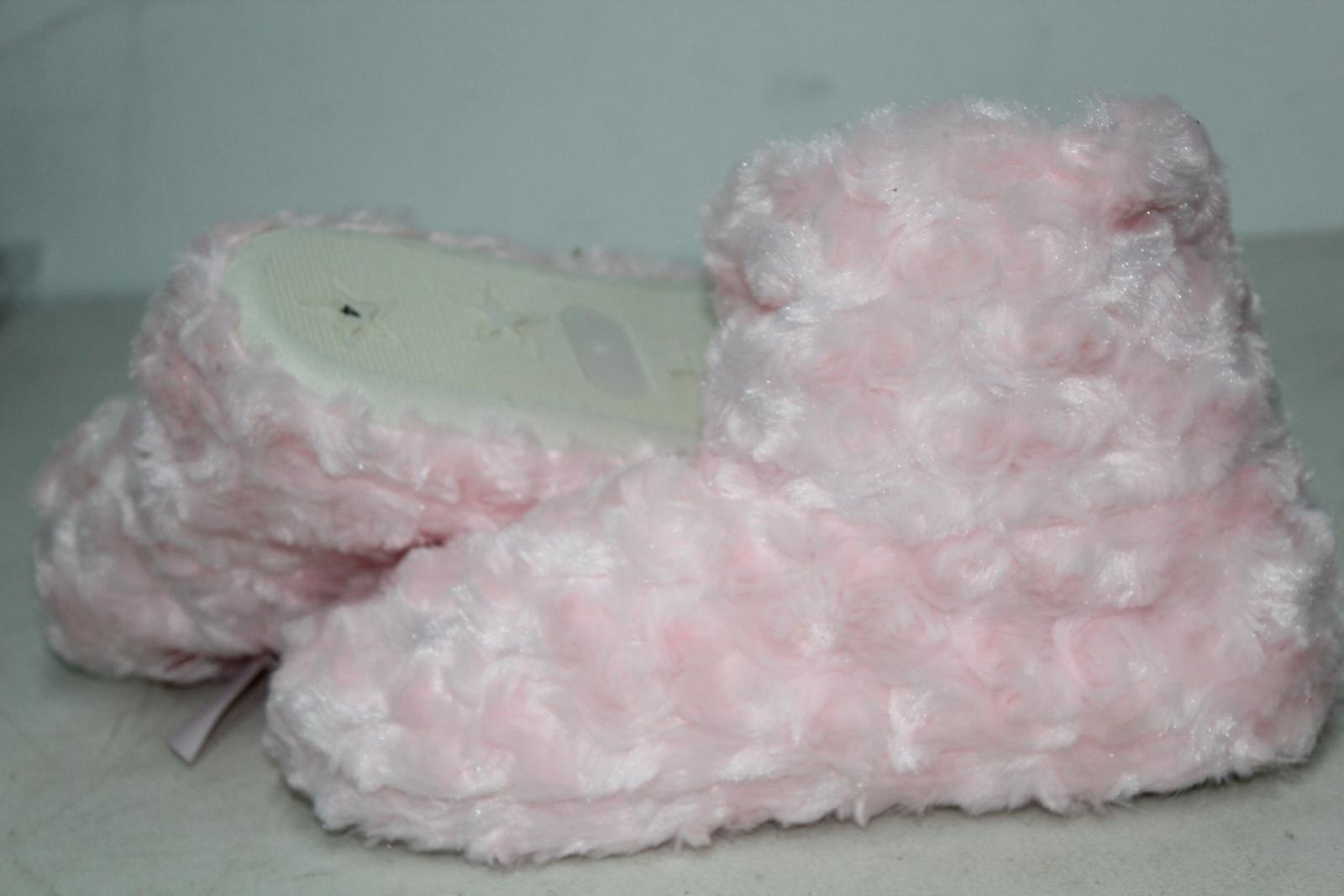 CHIC PRINCESS Girls Pink Fluffy Winter Warm Slipper Shoe Boots UK5 EU38 BNWT 9