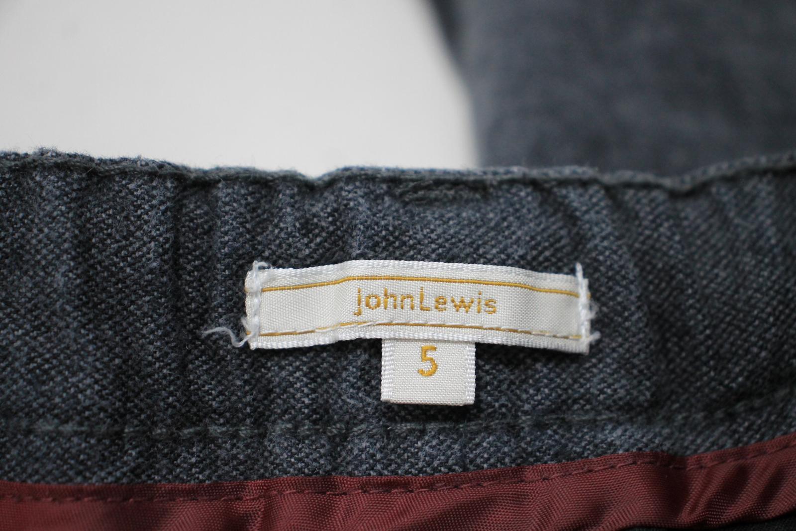 JOHN LEWIS Boy's Dark Grey Elastic Waist Skinny Fit Cotton Trousers 5 Yrs. NEW 6
