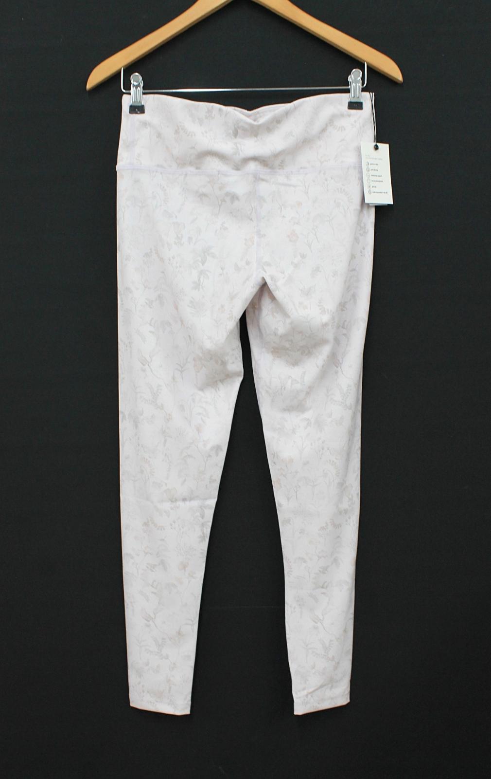 HARVEY & MILLS Ladies Secret Garden Pink & Nude Leggings Size M UK10-12 NEW 3