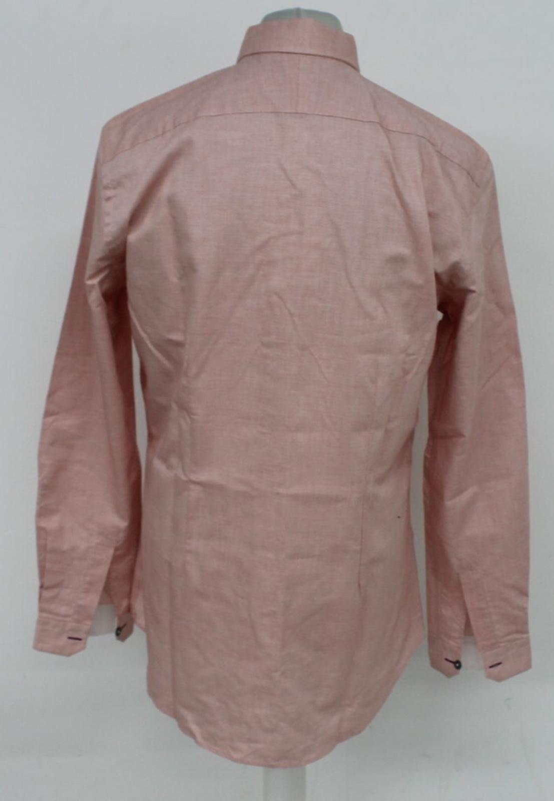 Paul-Smith-Para-Hombre-Rojo-Y-Blanco-Micro-Grafico-Impresion-a-medida-con-Camisa-Talla-17-43-Nuevo miniatura 5