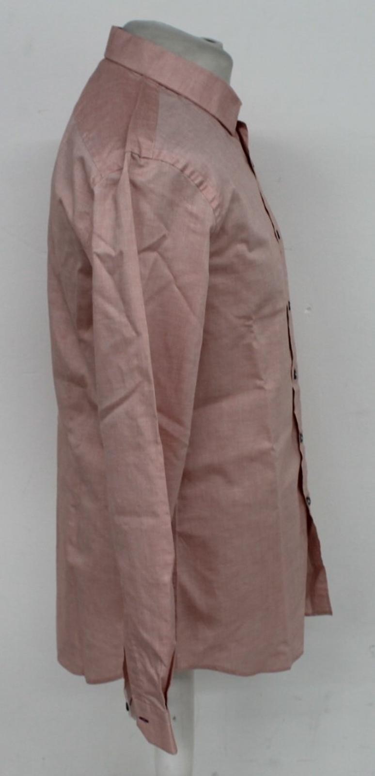 Paul-Smith-Para-Hombre-Rojo-Y-Blanco-Micro-Grafico-Impresion-a-medida-con-Camisa-Talla-17-43-Nuevo miniatura 6