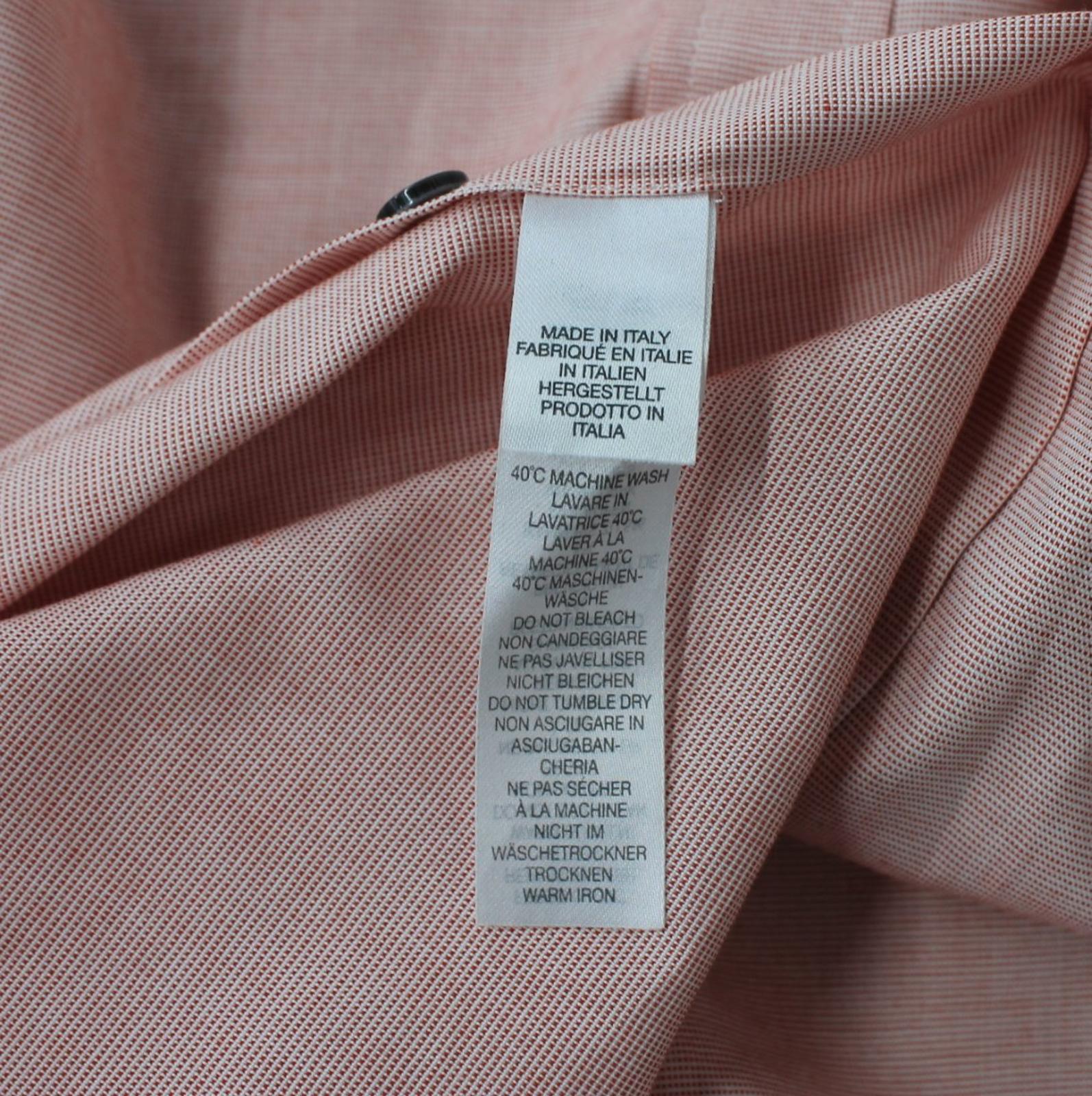 Paul-Smith-Para-Hombre-Rojo-Y-Blanco-Micro-Grafico-Impresion-a-medida-con-Camisa-Talla-17-43-Nuevo miniatura 8