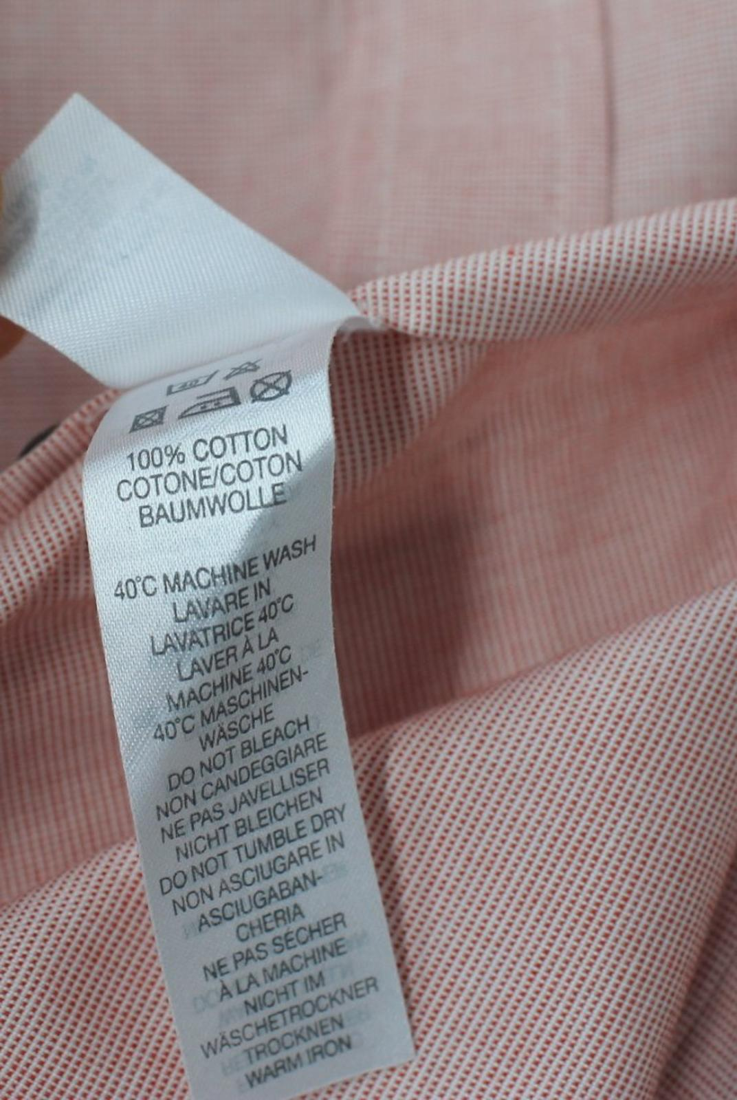 Paul-Smith-Para-Hombre-Rojo-Y-Blanco-Micro-Grafico-Impresion-a-medida-con-Camisa-Talla-17-43-Nuevo miniatura 9